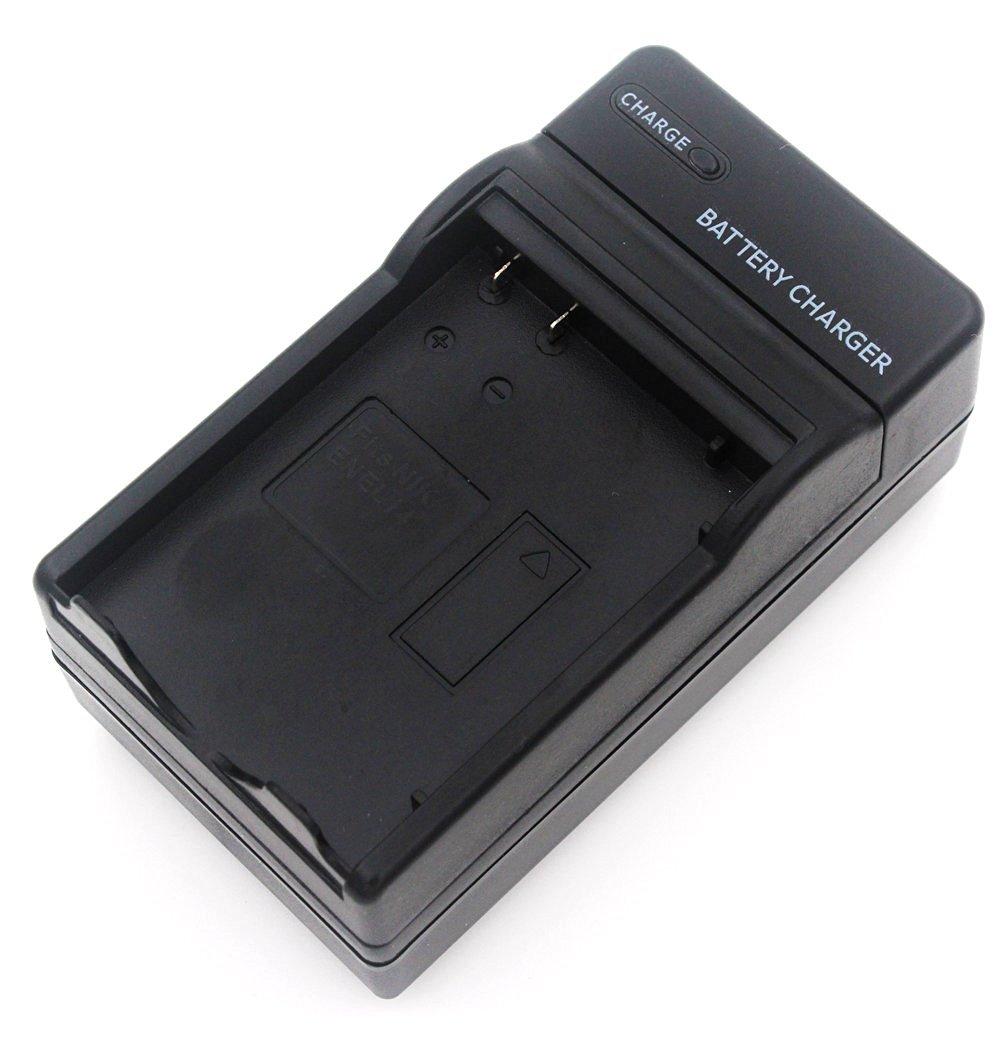 EN-EL14 Battery Charger for Nikon Coolpix P7000, P7100, P7700, P7800, DSLR D3100, D3200, D5100, D5200 Digital Camera with Foldable Plug