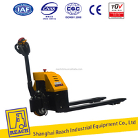 Industry used load capacity electric powered pallet fork trucks