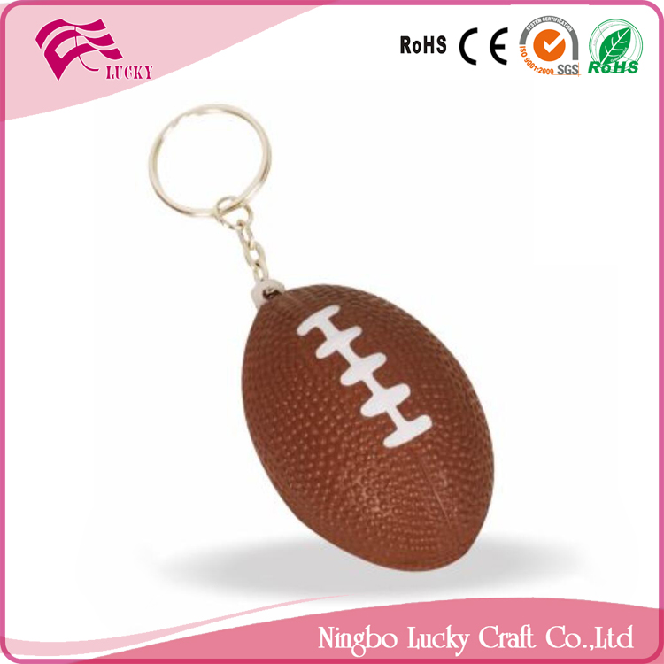 Lucky Craft PU foam dia 3.5x5.5cm mini soft reliever toys shape anti stress rugby America footballs keychain