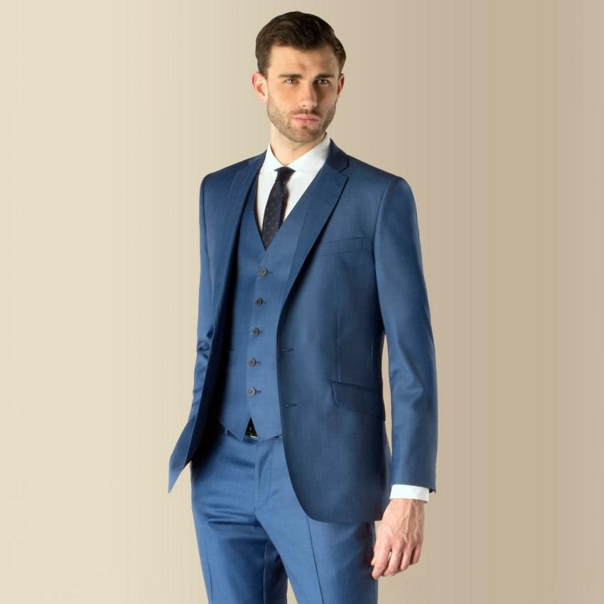 3110ae595f4 Formal Suit Prom Party Formal Wearing Customized Groom Wedding Tuxedos 3  Pieces (Jacket+Pants+Vest) WB092 Blue Suit Pant Coat