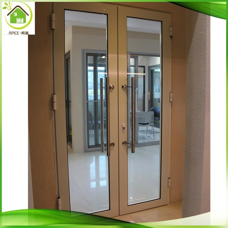 Oscilación Marco De Aluminio Oficina Comercial Puerta De Cristal ...