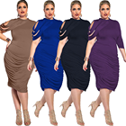 2019 High Quality Wholesale Plus Size Clothing Dress OEM Plus Size Women Dress