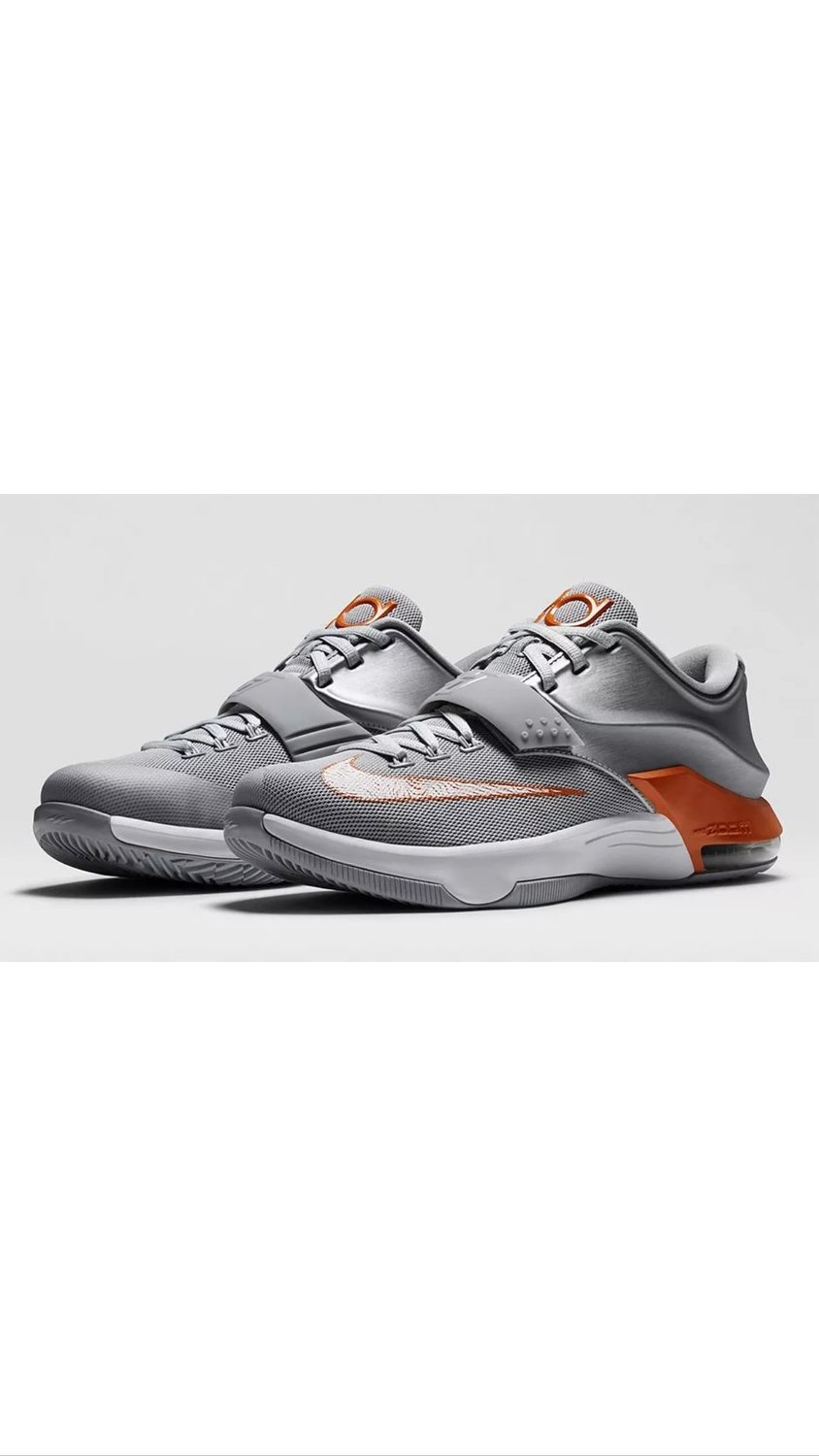 best sneakers d2e2d e8962 Get Quotations · Nike KD VII Texas Silver Burnt Orange Wolf Grey sz 6Y Youth