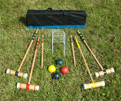 2017 Professional 6 Players Wooden Croquet Set Good quality only