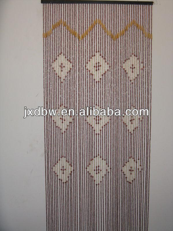 Pas cher 90 X 180 CM 60 cordes bois perles rideau de porte-Autres ...
