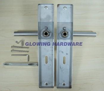 Stainless Steel Door Handle With Plate / Door Lever Handle On ...