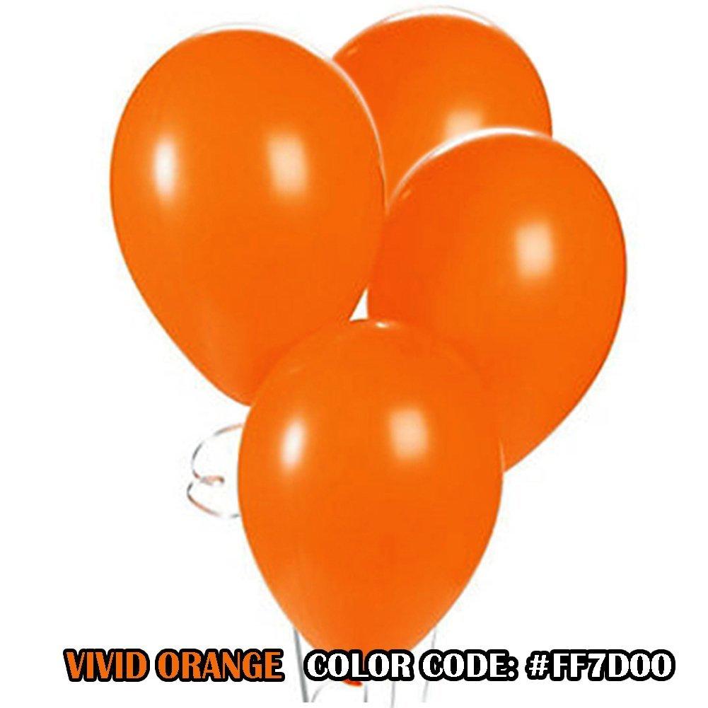 The Elixir Balloons Orange Color 100 Sets 12 Round Latex Ballon