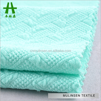 d086661e983 Mulinsen Textile Soft Polyester Spandex Lycra Double Jersey Crinkle Pattern Stretch  Knitted Jacquard Fabric