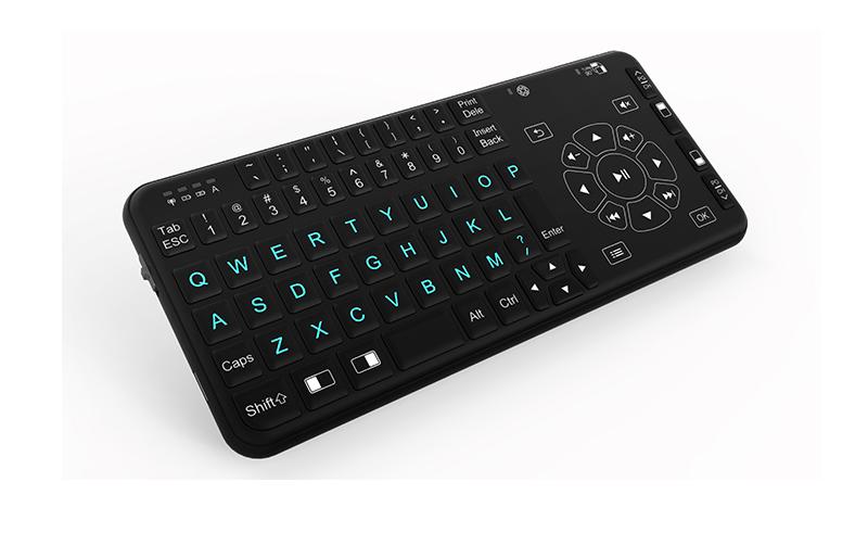 Rii I15 Wireless Mini Handheld Remote Multimedia Backlit Keyboard ...