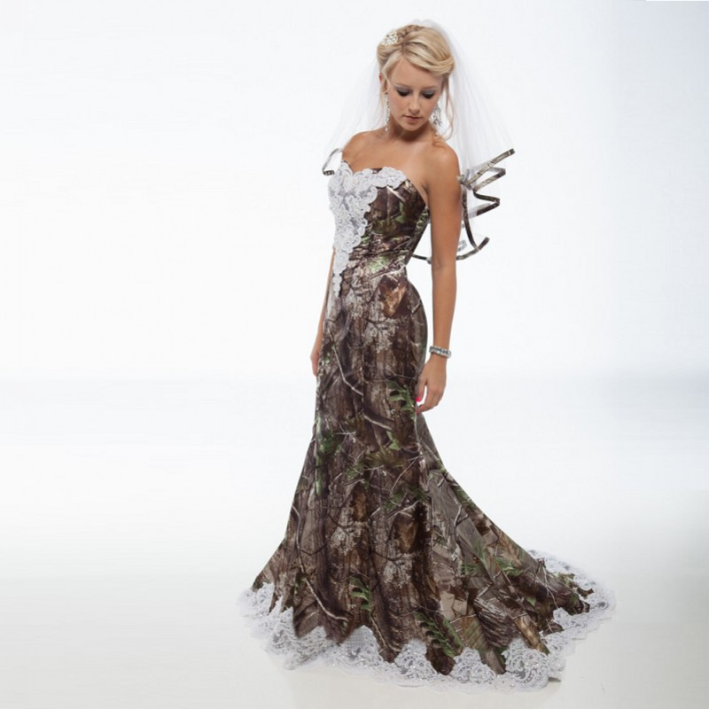 Winter Camouflage Prom Dress