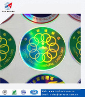 Eco-friendly No Ink Priting Holographic Green Label For Whisky ...