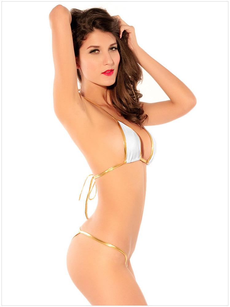 6a058035511d1 Get Quotations · 2015 Super Sexy White T-shaped Push Up Thin Triangle Bikini  Elegant Swimwear Swimsuit Maillot