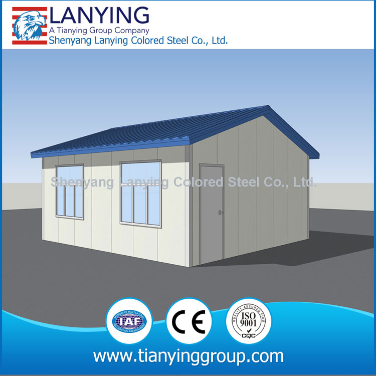 cheap prefab galvanized round pipe steel structure house