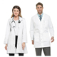 White women cotton Long Sleeve black Lab Coats