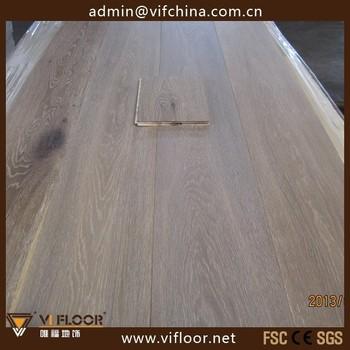 Wide Plank Engineered Waterproof Limed Oak Wood Flooring