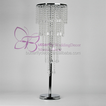 Tier Hcm Hanging Acrylic Crystal Beaded Wedding Vase Table - Chandelier acrylic crystals