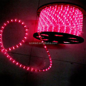 Low voltage high brightness color chasing RGYB multicolor led round rope light