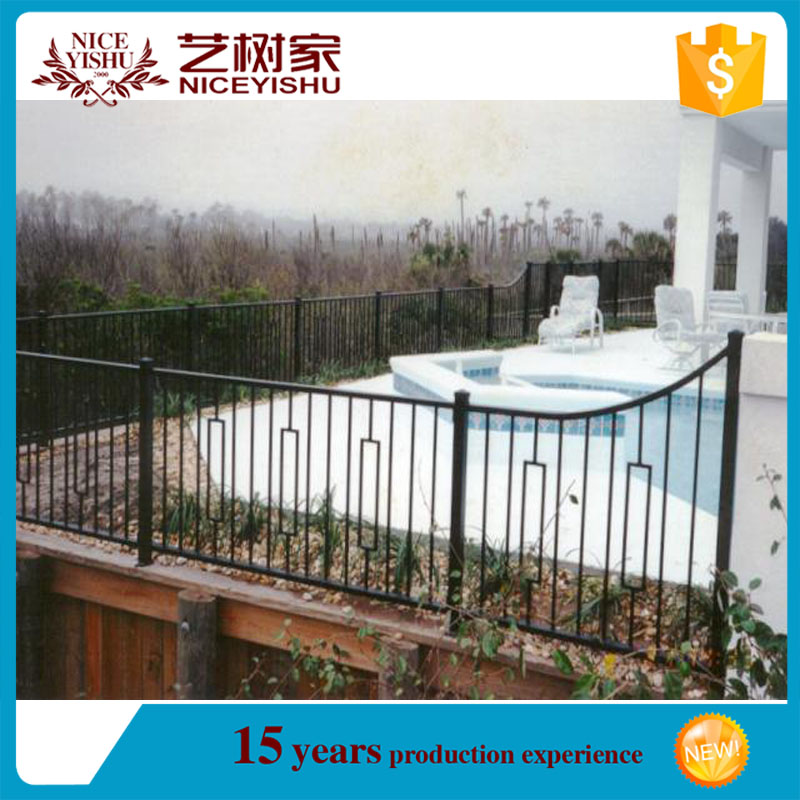 2016 the most popular aluminum fence /Euro style used /39.garden decorative aluminum fence top spears / fence railing spear top