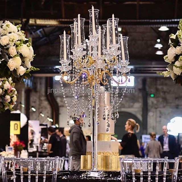 wholesale European crystal candle holders beautiful centerpieces for weddings