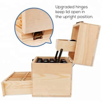 FSC 3-tier pine wood essential oil box wooden gift packaging box