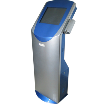 Self-service kiosk with swipe card reader