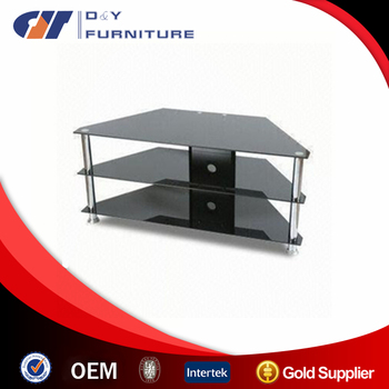 Black Glass Tv Stand For 32 42 Lcd Led Plasma Tv For Corner Buy