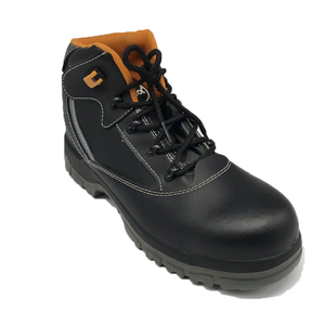 China black genuine leather work safety boots middle sole and plastic toe cap materials work shoes