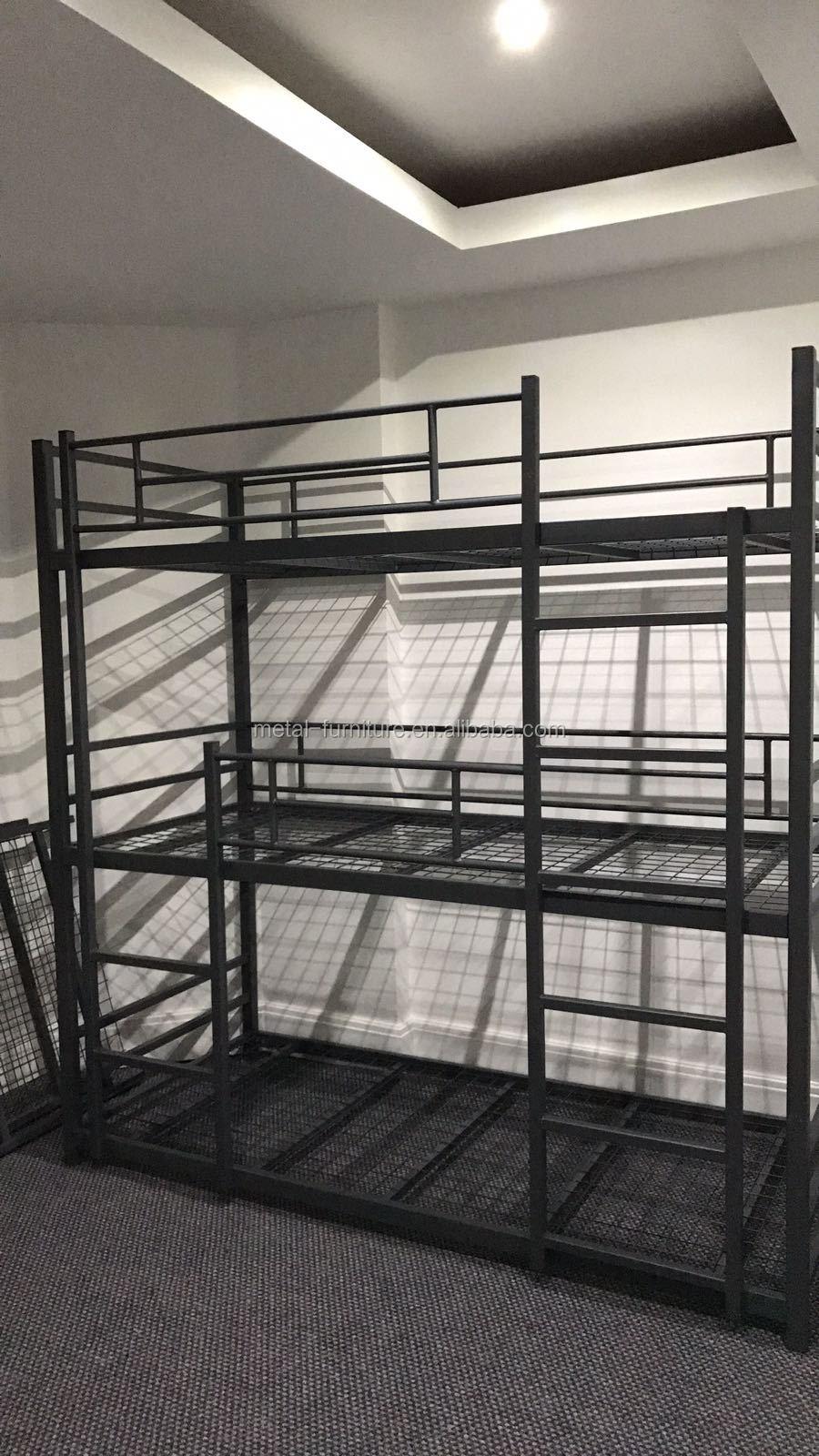 Home Dormitory Steel Locker Hostel Beds 3 Layer 3 Sleeper Triple ...