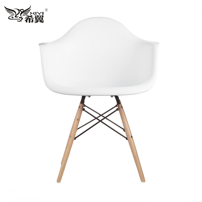 Hebei hard plasticc abs plastic wood legs dining chair