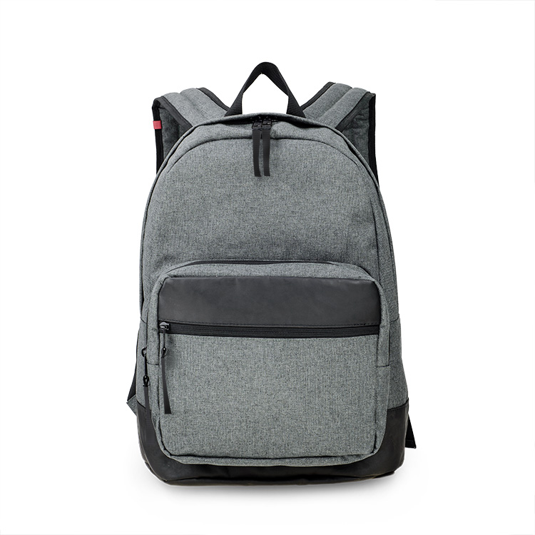 China wholesale classic grey eminent polyester men women backpack bag