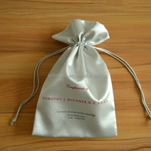 Custom Satin Drawstring Pouches Jewelry Party Wedding Favor Gift Bags with custom logo