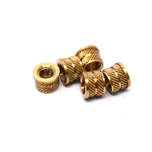 hot sale cnc/auto lathe machining knurled m3/m4/m5/m6 brass insert nut