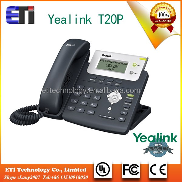2 VoIP accounts ip phone Yealink T20 internet phone calls
