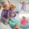 Doll matching clothes kids clothing wholesale baby clothes girls ruffle outfits