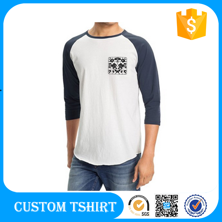 China manufacturer 100 cotton raglan packaging man T shirt printing china