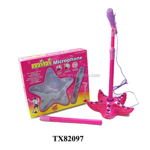 flashing plastic recording microphone toy