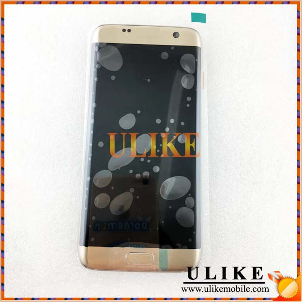 Lcd Complet For Samsung S7 Edge Lcd Touch With Frame Gold
