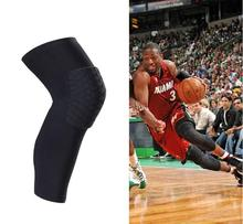 Leg & knee Guard Sleeve Crashproof Antislip Basketball Leg Knee Sleeve Protector Gear Honeycomb Pad