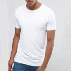 OEM Wholesale Men's Plain White Slim Fit Blank T Shirt