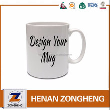 11 oz plain white custom ceramic mug for sublimation