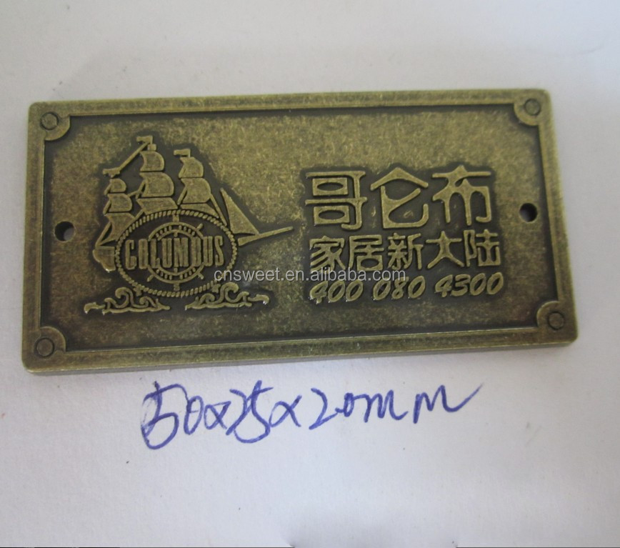 Custom Metal Label 3d Metal Letter Embossed Logo Buy Custom Metal Label Metal Embossed Logo