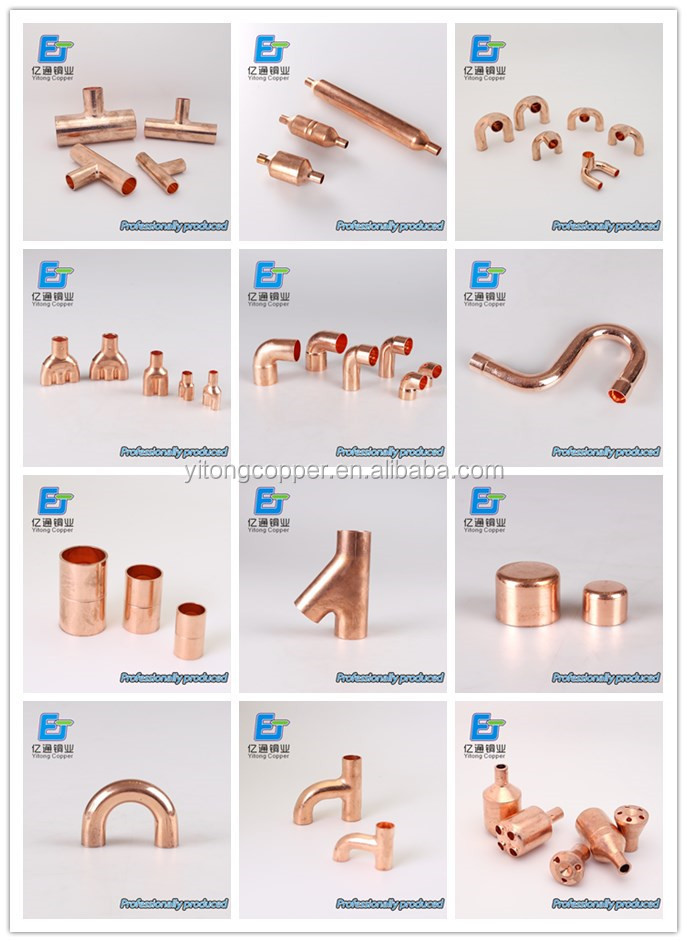 Cheap goods from china different types copper pipe flared for Copper water pipe fittings types