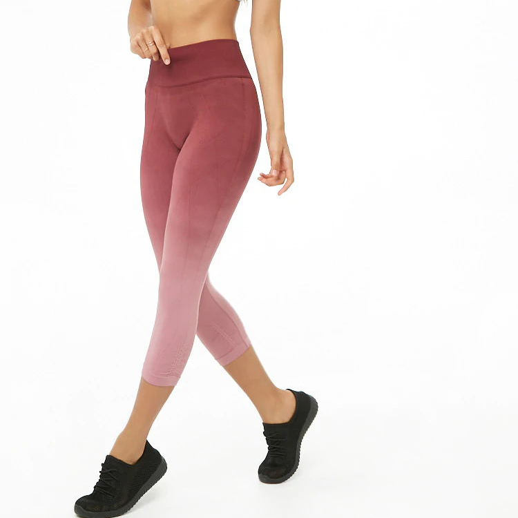 Chinese skilled lady sportswear yoga wear red whit push up yoga pants