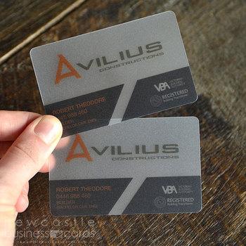 custom design transparent business pvc card - Transparent Business Cards