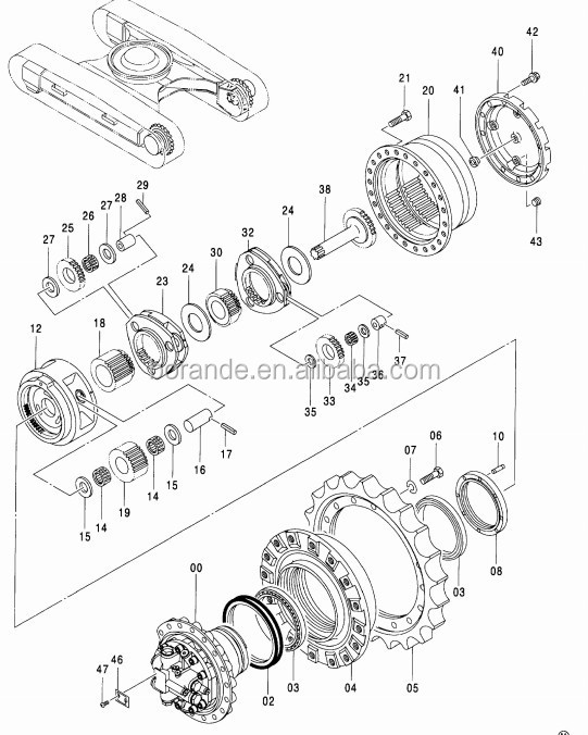 4246793 Excavator Final Drive Bearing For Zx200 Zx210