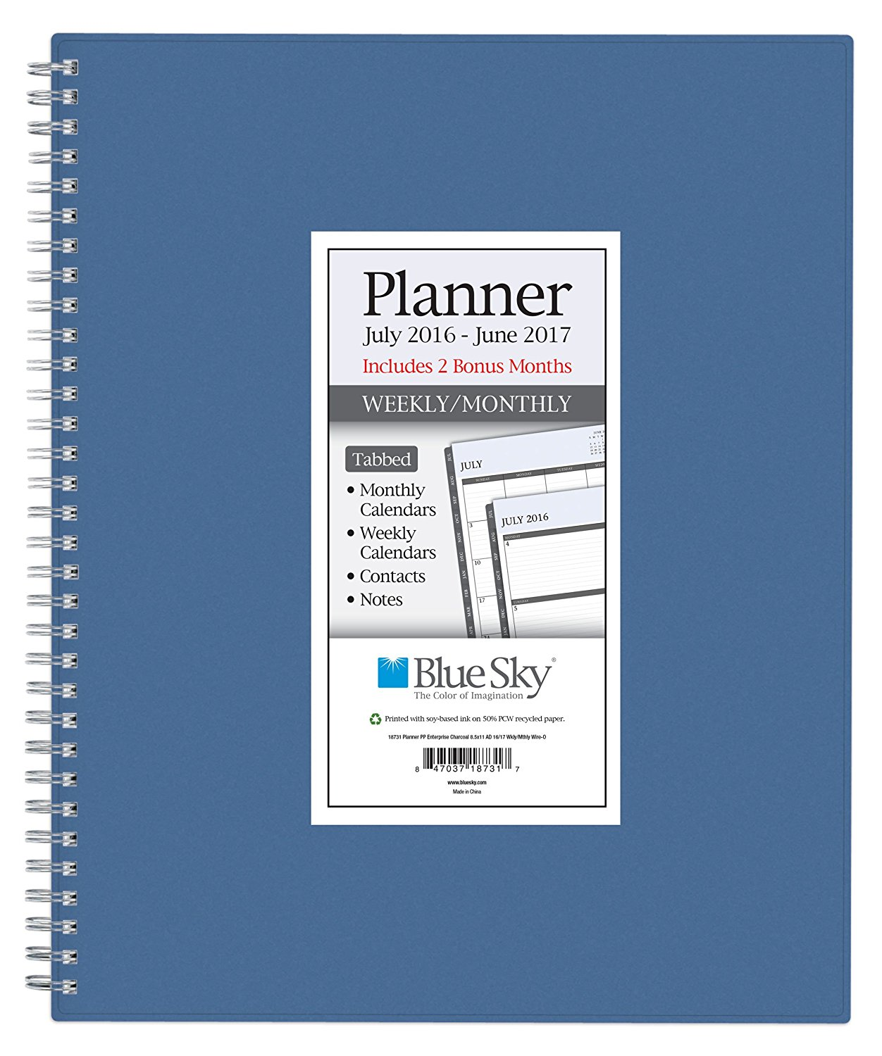 buy blue sky 2016 2017 academic year weekly monthly planner wire