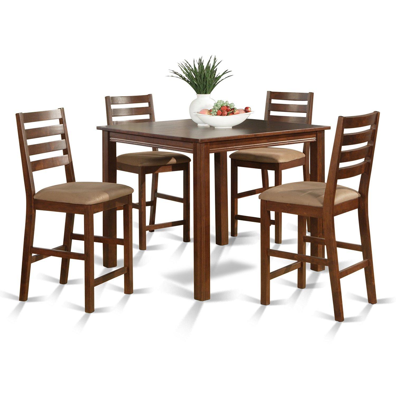 East West Furniture CAFE5-ESP-C 5-Piece Gathering Table Set