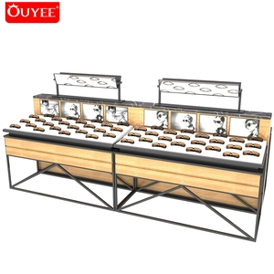 Wood Sunglasses Optical Decoration Shop Display Rack With Metal For Eyewear Display