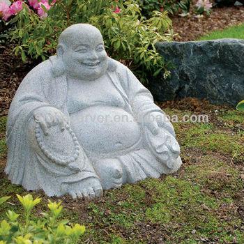 Nature Stone Laughing Buddha Garden Statue