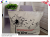 promotional gold stamping new design different color printing canvas shopping bag